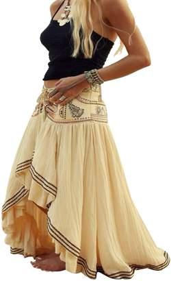 8f1b9333c Suvotimo Womens Summer Boho Full Length Skirt Asymmetric Beachwear