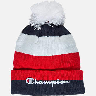Champion Script Knit Pom Beanie Hat