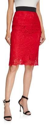 Dolce & Gabbana Cordonetto Lace Pencil Skirt