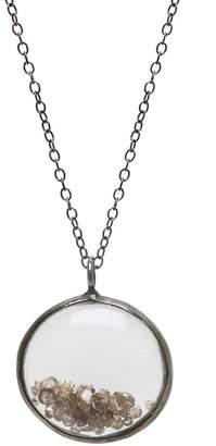 ADORNIA Georgina Champagne Diamond Round Shaker Pendant Necklace - 1.00 ctw