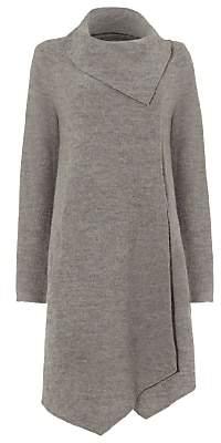 Phase Eight Bellona Waterfall Coat, Grey Marl