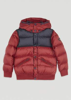 Emporio Armani Quilted Padded Jacket With Removable Hood