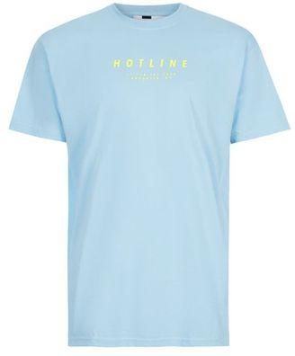 Blue Hotline Print T-Shirt $30 thestylecure.com