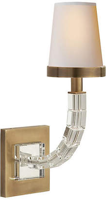 Visual Comfort & Co. Cube Crystal Sconce - Antiqued Brass