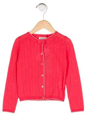 Jean Bourget Girls' Knit Button-Up Cardigan w/ Tags