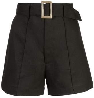 Lisa Marie Fernandez high-rise belted shorts