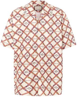 Gucci Oversized Belt Print Shirt