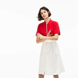 Lacoste Women's Zip Petit Pique Polo Dress