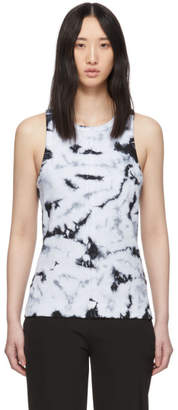 Proenza Schouler White and Black PSWL Tie-Dye Tank Top