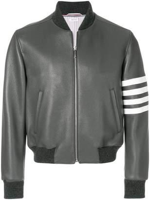 Thom Browne 4-bar Stripe Deerskin Blouson Jacket