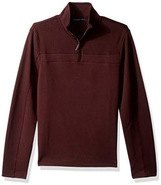 Perry Ellis Men's Long Sleeve Quarter Zip Knit
