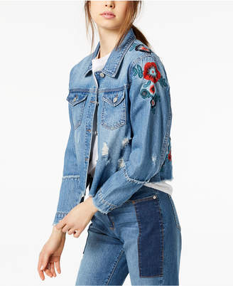 Buffalo David Bitton Nicci Embroidered Denim Jacket