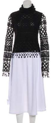 Herve Leger Macrame Crochet Sweater w/ Tags