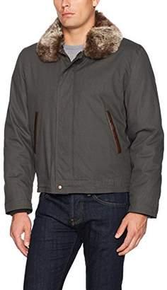 Tallia Men's Valuta Bomber Jacket with Faux Fur Collar