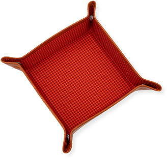 Neiman Marcus Dotted-Print Valet Tray