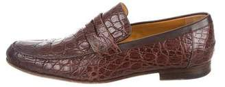 Gucci Alligator Penny Loafers