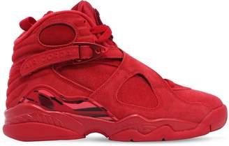 Nike Jordan 8 Retro Vday Suede Sneakers