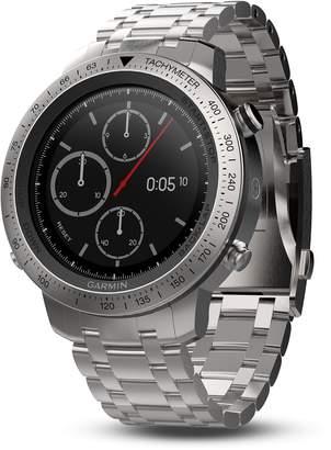 Garmin fenix Chronos Premium Multisport GPS Smartwatch with Brushed Stainless Steel Band