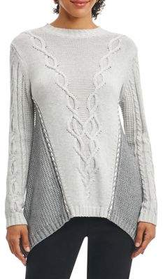Foxcroft Cable-Knit Sweater