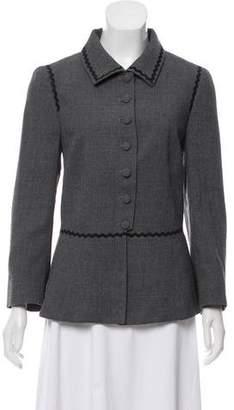 Rena Lange Wool Pointed Collar Blazer