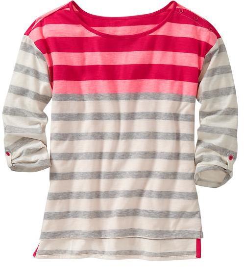 Gap Three-quarter sleeve striped top