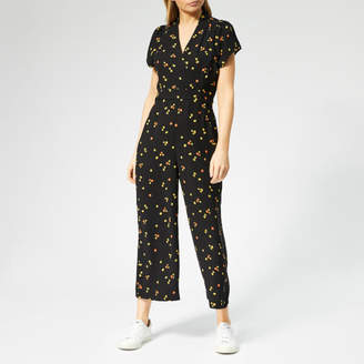 8a72c94c0b Whistles Women s Mirco Floral Print Tie Back Jumpsuit