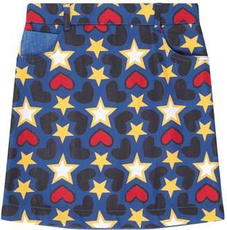 Stella McCartney Deanna Star Print Denim Skirt