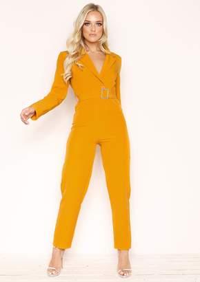 49ed81456d08 Missy Empire Missyempire Luz Mustard Belted Jumpsuit