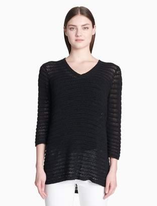 Calvin Klein v-neck 3/4 sleeve sweater