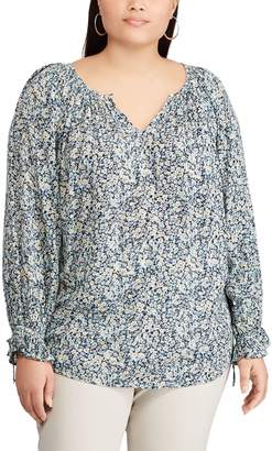 Chaps Plus Size Floral Top