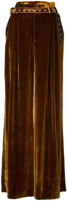 Marques Almeida Marques'almeida belted velvet palazzo pants