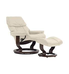 Stressless Large Ruby Chair With Foot Stool - Paloma Light Grey
