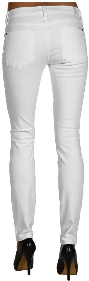 7 For All Mankind The Skinny in Clean White (Clean White) - Apparel