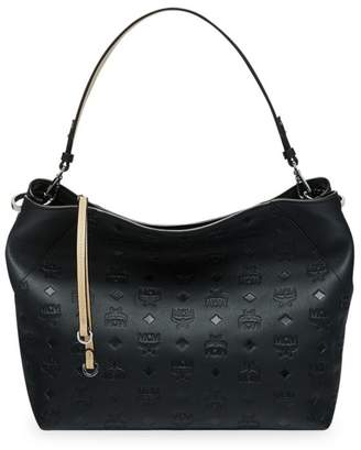 fdaebb418 MCM Medium Klara Monogram Leather Hobo Bag
