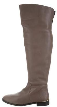 Carmen Marc Valvo Leather Over-The-Knee Boots