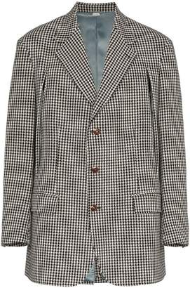 Gucci check slit wool cashmere blend jacket