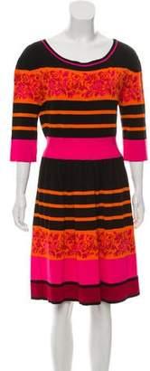 Alberta Ferretti Knit Knee-Length Dress