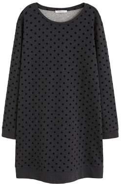 Violeta BY MANGO Polka-dots sweatshirt cotton dress