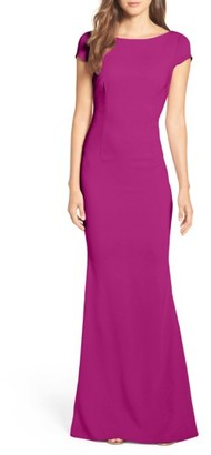 Women's Katie May Plunge Knot Back Gown $295 thestylecure.com