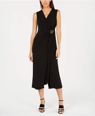 567c728fd5a Calvin Klein Draped Cropped Jumpsuit