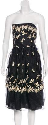 Betsey Johnson Embroidered Cocktail Dress