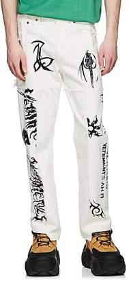 Vetements Men's Graphic Patchwork Levi's® Jeans - White