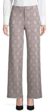 Context Plaid Wide-Leg Pants