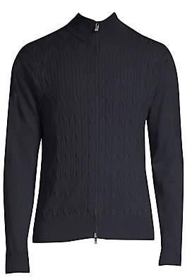 Corneliani Men's Wool Zip-Up Sweater