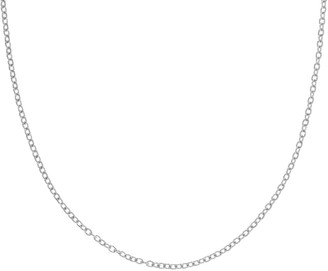 "Judith Ripka Verona Sterling 18"" Textured RoloLink Necklace"