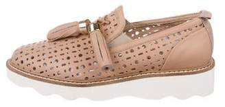 Baldinini Laser Cut Leather Loafers