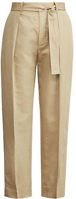 Polo Ralph Lauren Cotton-Linen High-Rise Pant $198 thestylecure.com