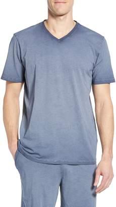Daniel Buchler Washed Cotton V-Neck T-Shirt