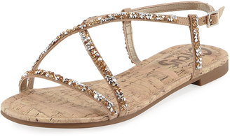 CIRCUS BY SAM EDELMAN Hilary Crystal-Embellished Slingback Sandal, Nude $45 thestylecure.com