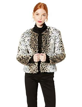 BB Dakota Junior's Wild Thing Snow Leopard Faux Fur Jacket